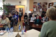 Suomi-Venäjä-Seuran Imatran osasto opettaa suomen kieltä Tihvinässä Venäjällä.