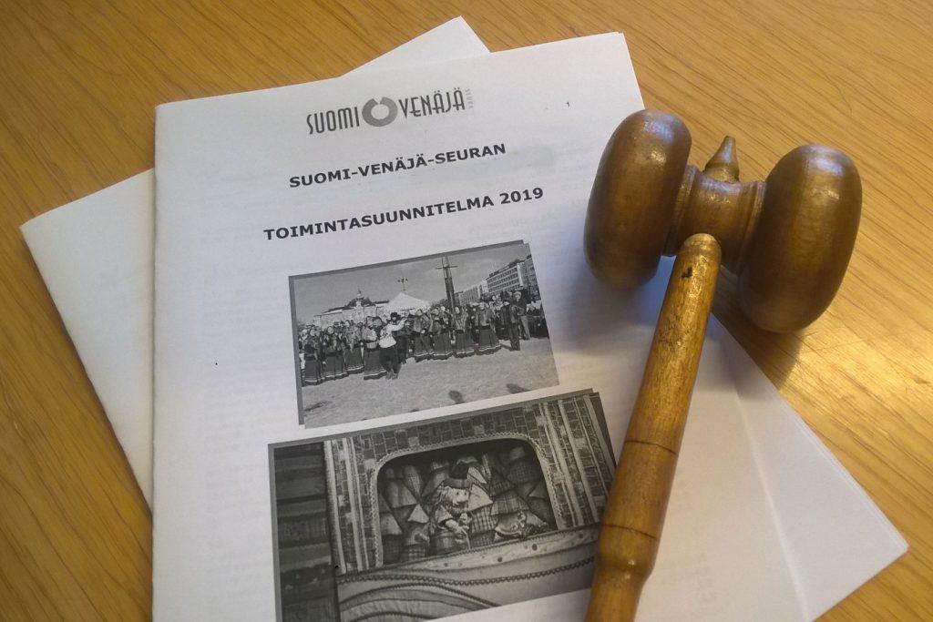 Suomi-Venäjä-Seuran osastoilla pitävät keväisin vuosikokoukset.