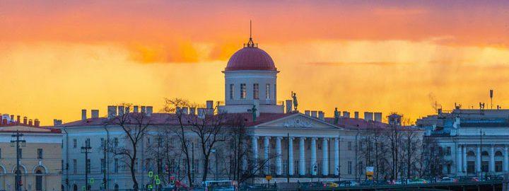 Pietari auringonlaskun aikaan, Luidmiula Kot, Pixabay