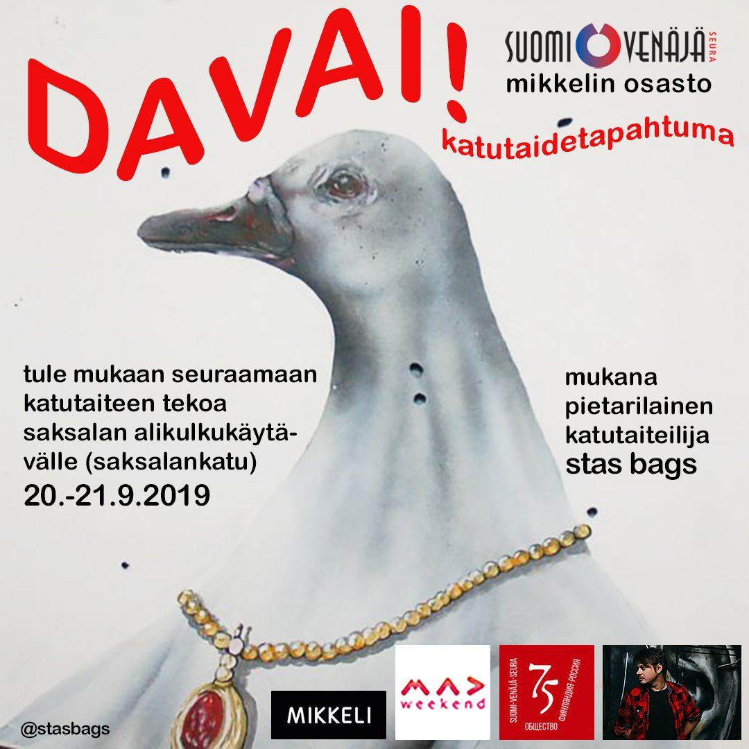 Suomalais-venäläinen katutaidehanke Mikkelissä 20.-22.9.